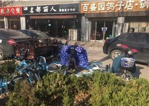没素质,共享单车躺在绿化带内