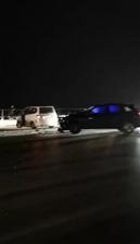 汝河桥桥面结冰,多车发生碰撞