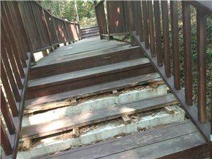 儋阳楼楼梯破败不堪,有很大安全隐患!