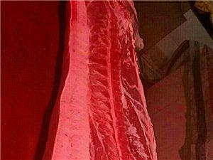 现宰现卖的新鲜猪肉