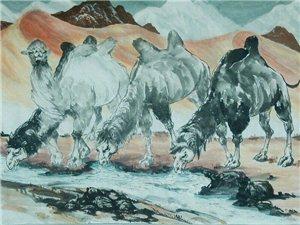 汤希忠国画骆驼作品欣赏