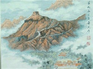 汤希忠国画作品欣赏《遥望苏武山》