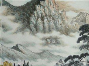 汤希忠国画八尺山水《山静松声远秋清泉气香》