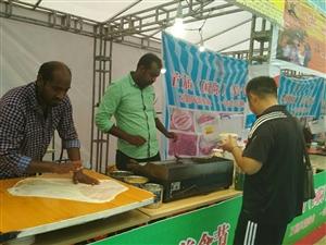 7月8日枝江锦城天下.国际美食节现场
