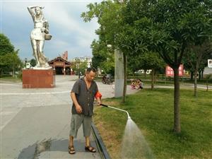 旺苍的早晨之纪红广场