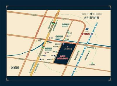 定州详细街道地图