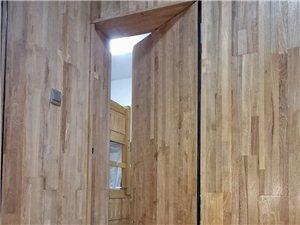 我自己做的第一道门,全实木