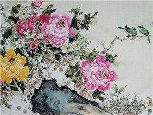 汤希忠国画四尺牡丹作品欣赏!