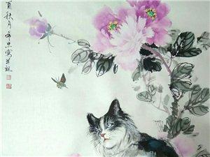 汤希忠国画《猫》系列