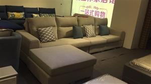 布艺沙发2.5米,9.9新。买来一次也没...