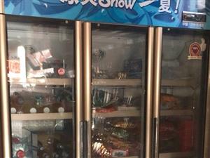 3门展示冰柜,1.5米长,便利店正在使用...