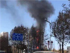 小银龙对面电业局发生火灾