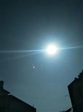 阳光灿烂的太阳肩并肩