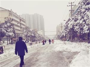 雪后早晨上班路上的见闻