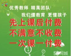 家教上门数学物理化学辅导及作业辅导