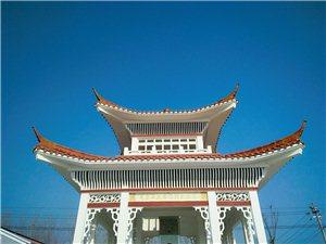 兰考黄河湾风景区�D毛泽东视察黄河纪念亭