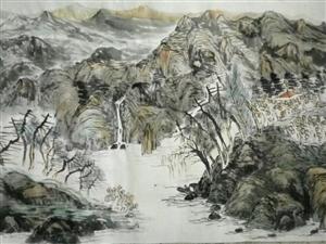 王振发山水人物画:优雅仙境天人合一