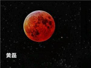 百年难得一见的超级红月亮[作者:黄磊]