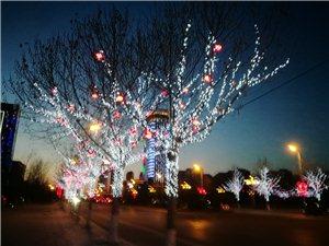 新县府前的灯真漂亮