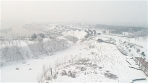 一雪倾城,唐河最美雪景