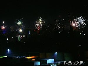 腊月三十冒严寒拍摄县城烟花的美好回忆