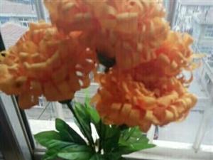 手工制作多种布艺花。玫瑰花。牡丹花,向日