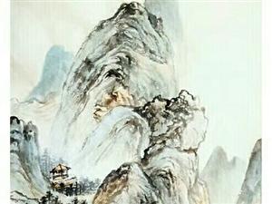 七绝峦林幽树图(赞云卷云舒临摹画)