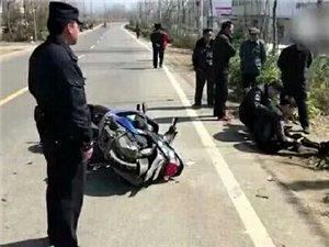 3月10日,安徽滁州明光市一摩托车与电瓶