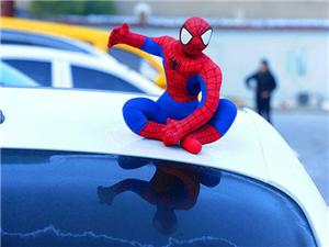 """车顶装""""蜘蛛侠""""等玩偶已违法成都交警将罚两百记2分"""
