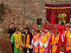 宝丰县霞光文化艺术团到澳门威尼斯人游戏网址如意寺参加《中国第三届开耕仪式》