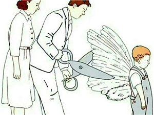 爸爸妈妈∶你们剪掉了我的翅膀还嫌我不会飞