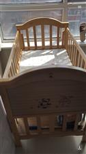 婴儿床实木二手。  9成新。   200元。        联系电话18145576969