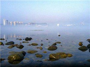 今早汉江有雾
