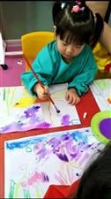 彩色森林幼儿园的创意美术课,我姑娘最爱