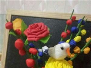 我的创意手工布艺花,喜欢吗?我可以为你做啊