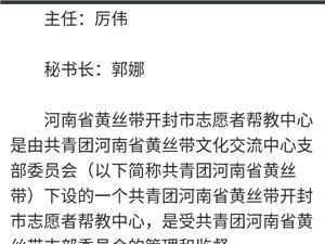 河南省黄丝带开封市志愿者帮教中心成立