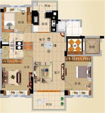 碧桂园3室2厅2卫160万元
