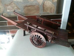 红木马车模型