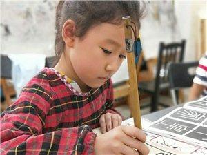 孩子们的绘画书法课!快乐的星期六!