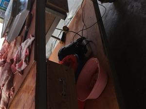转让卖猪肉设备,(猪肉案板,切肉刀,挂肉钩,绞肉机)一套