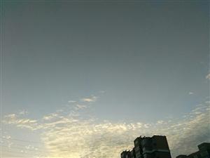 傍晚的天气好美