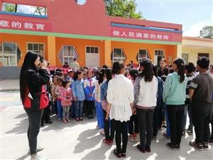张家川在线受邀拍青少年校外活动中心捐赠古土小学活动