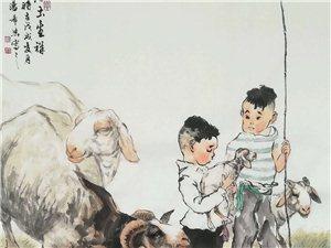 汤希忠国画《羊》系列作品欣赏!