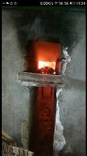 柴火灶备饭��