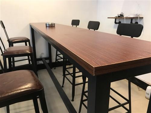 二手高桌子240*40*100+6張高凳