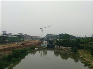 美高梅注册分洪闸建设规模初具,看过来!