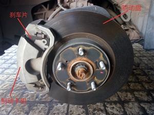 汽车制动(刹车)踩下刹车踏板刹车油从总泵流出,利用油管输送到刹车活塞,压力推动刹车活塞通过刹车片夹