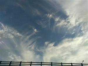 在蔚蓝的天空下