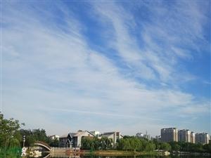 晒一下博兴的莫名湖畔美景照片,太美了!
