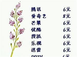 腾讯  芒果 乐视5元1月  爱奇艺7元 以上是共享号,另有各种视频月卡,直充自己的号!腾讯年号40